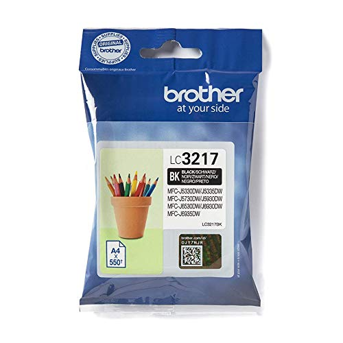 Brother LC3217BK Inkjet Cartridge, Standard Yield, Black, Brother Genuine Supplies from Brother
