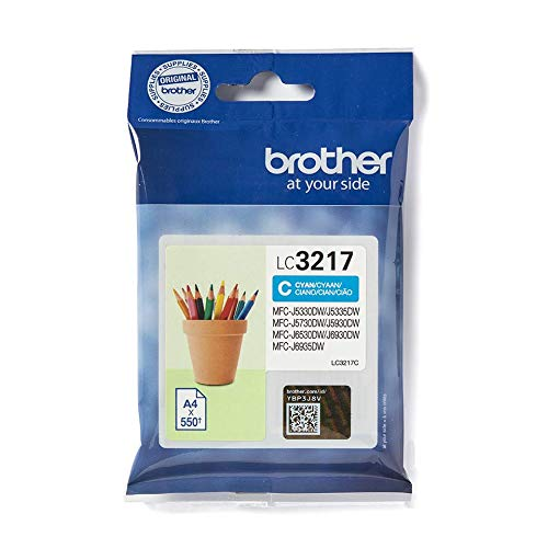 Brother LC3217C Inkjet Cartridge, Standard Yield, Cyan, Brother Genuine Supplies from Brother