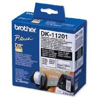 Brother DK-11201 Original Label Tape - (29mm x 90mm) Black on White x 400 from Brother