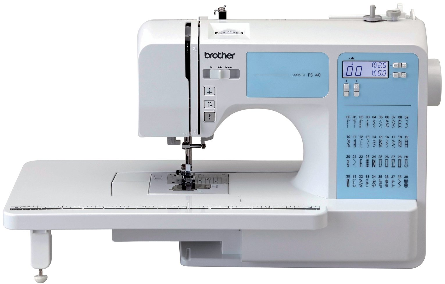 Brother - FS40 Sewing Machine with Extension Table - White from Brother