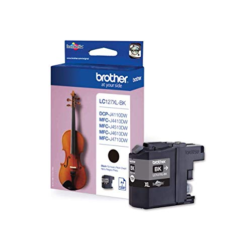 Brother LC-127XLBK Inkjet Cartridge, Black, Single Pack, High Yield, Includes 1 x Inkjet Cartridge, Brother Genuine Supplies from Brother