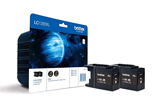 Brother LC1280XLBK Inkjet Cartridges, High Yield, Black, Brother Genuine Supplies, Twin Pack from Brother