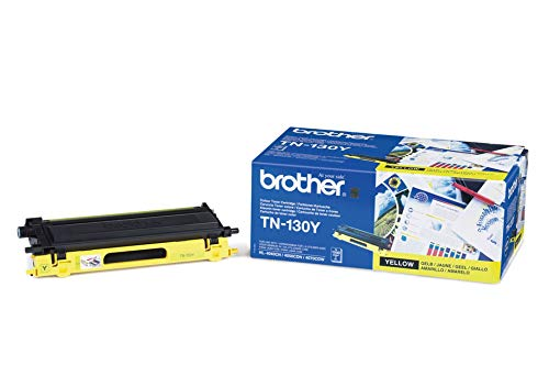 Brother TN-130Y Toner Cartridge, Yellow, Single Pack, Standard Yield, includes 1 x Toner Cartridge, Brother Genuine Supplies from Brother