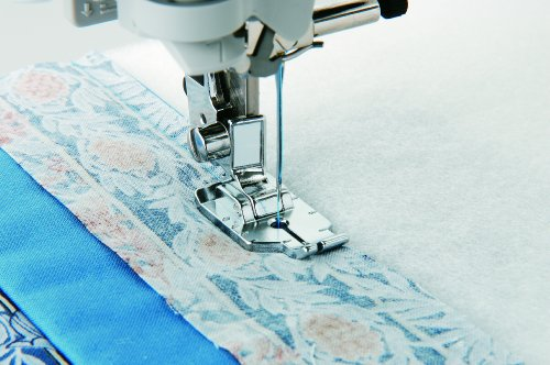 Brother ¼ Inch Piecing Foot for Quilting and Topstitching, SA125, Silver from Brother