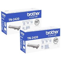 TWIN PACK: Brother TN2420 Original Black High Capacity Toner Cartridge (2 Pack) from Brother