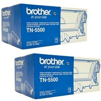 TWINPACK: Brother TN5500 Black Original Laser Toner (2 Pack) from Brother