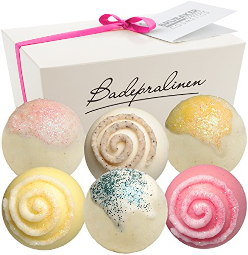 BRUBAKER Cosmetics Bath Bombs 'Stardust' Gift Set - Handmade and Natural (Set of 6) from Brubaker