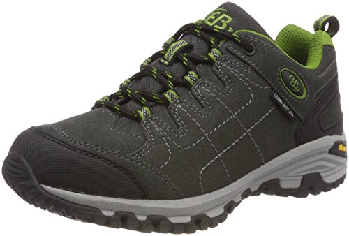 Bruetting Unisex Adults' Mount Shasta Low Rise Hiking Shoes, Grey Anthrazit/Grün, 7 UK from Bruetting