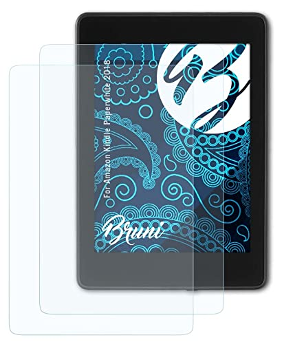Bruni Screen Protector compatible with Amazn Kindl Paperwhite 2018 Protector Film, crystal clear Protective Film (2X) from Bruni