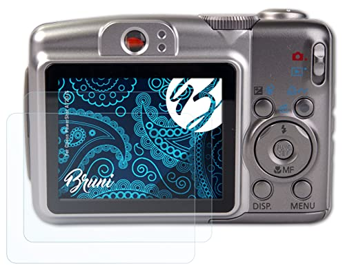 Bruni Screen Protector compatible with Canon PowerShot A720 IS Protector Film, crystal clear Protective Film (2X) from Bruni