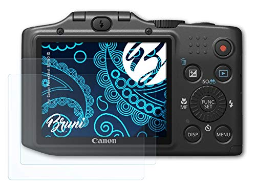Bruni Screen Protector compatible with Canon PowerShot SX160 IS Protector Film, crystal clear Protective Film (2X) from Bruni