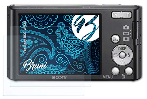 Bruni Screen Protector compatible with Sony DSC-W830 Protector Film, crystal clear Protective Film (2X) from Bruni