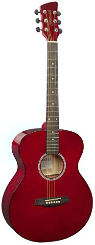 BRUNSWICK GRAND AUDITORIUM ACOUSTIC GUITAR RED BF100R from Brunswick