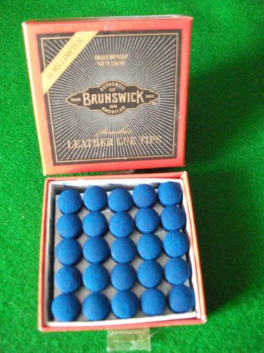 Blue Diamond glue on snooker / pool cue tips - 10mm x 5 from Brunswick