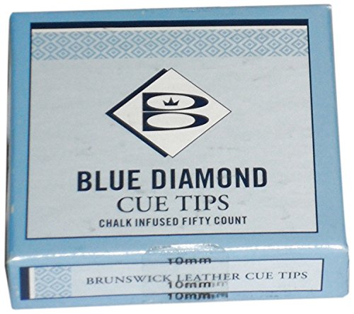 Brunswick Unisex Adult (Blue Diamond) Cue Tips, 9 Mm, Box Of 50 - Blue from Brunswick