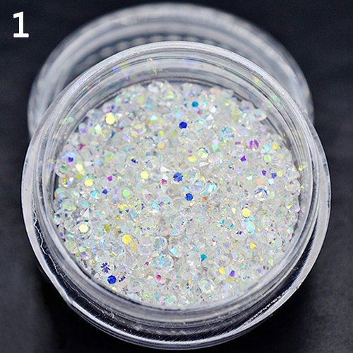 Brussels08 300pcs 1.2mm Mini Diamond Shining DIY Rhinestones Nail Art Decorations Stud Glass Charms Gems Stones for Nails Tip Decoration Jewelry Making Crafts Clothes Shoes 1 from Brussels08
