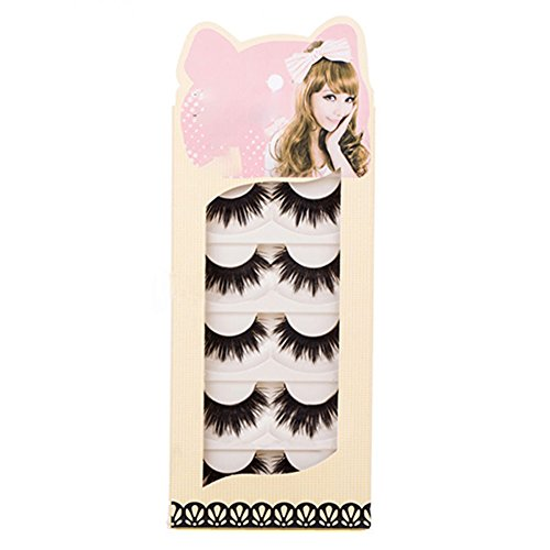 Brussels08 5 Pairs 3D Fake Eyelashes Makeup Hand-made Dramatic Thick Crisscross Deluxe False Lashes Reusable Black Nature Fluffy Long False Eyelashes Eye Lashes For Every Occasion M from Brussels08