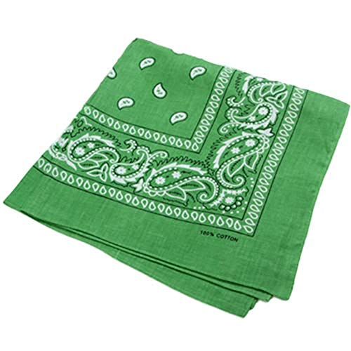 Brussels08 Unisex Cotton Square Bandana Hiphop Head Wrap Scarf Square Headscarf Wristband Silk Feeling Hair Scarf Head Hair Wrap Neckechief Scarf Men's Pocket Handkerchief 17 from Brussels08