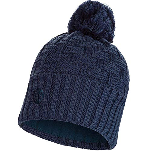 Buff Airon Knitted and Band Polar Fleece Hat, Dark Denim, Adult from Buff