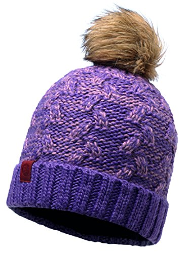 Buff Kiam Knitted Hat, Deep Grape, One Size from Buff