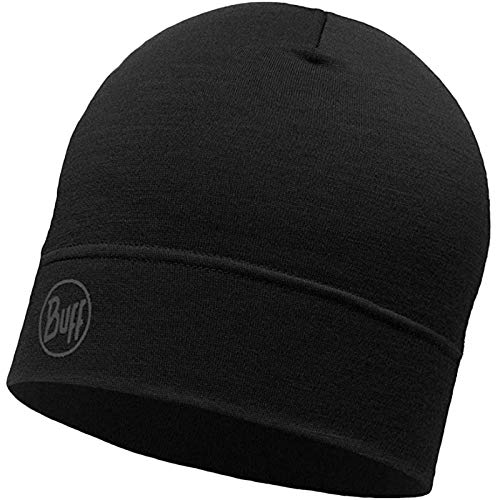 Buff Merino Wool Unisex Headwear, Black (Single Layerblack), Adult/One Size from Buff