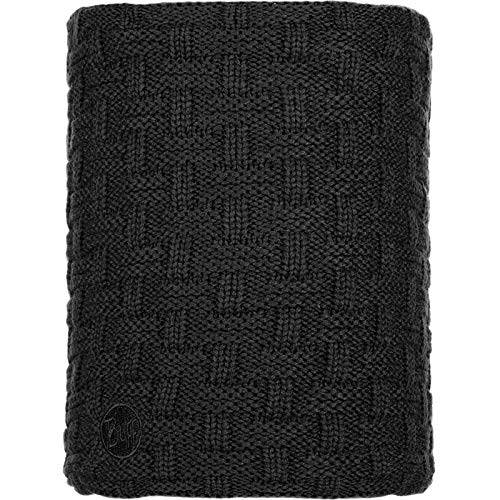 Buff Airon Knitted and Polar Fleece Neckwarmer, Black, Adult from Buff