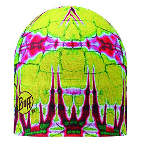 Buff Unisex's Reversible Statics Mircofibre Hat-Yellow/Pink/Green/White, One Size from Buff