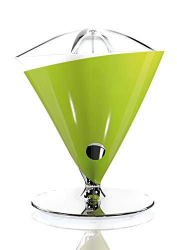 BUGATTI, Vita, Electric Juicer with Blown Tempered Glass Jug Included, Capacity 0.6 liters, Stainless Steel Filter, 80 W, Green Color from BUGATTI