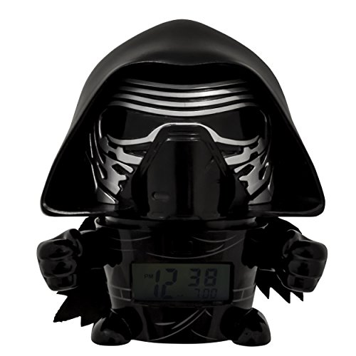 BulbBotz Star Wars 2021388 The Last Jedi Kylo Ren Kids Night Light Alarm Clock with Characterised Sound | black/grey | plastic | 5.5 inches tall | LCD display | boy girl | official from BulbBotz