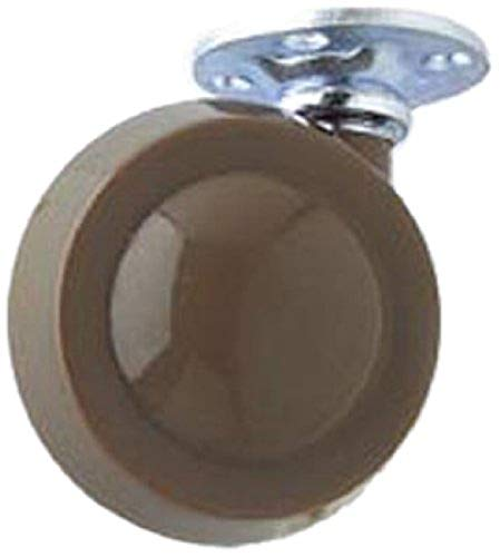 Merriway® BH01545 Shepherd Type Metal Wheel Castors Casters, Plate Fix, 50mm (2 inch) Dia. - Pack of 2 from Merriway