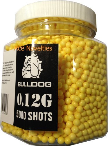 Bulldog High Pro Grade 6mm 0.12g Light Weight Yellow BB Pellets x 5000 Tub from Bulldog Castors