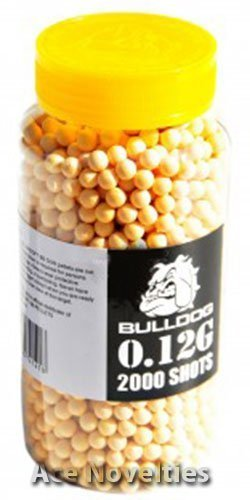 Bulldog High Pro Grade 6mm 0.12g Light Weight YELLOW BB Pellets x 2000 Bottle from Bulldog