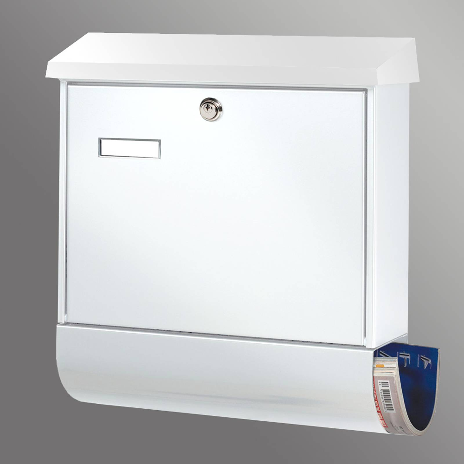 Popular letter box Set Vario, white from Burgwächter