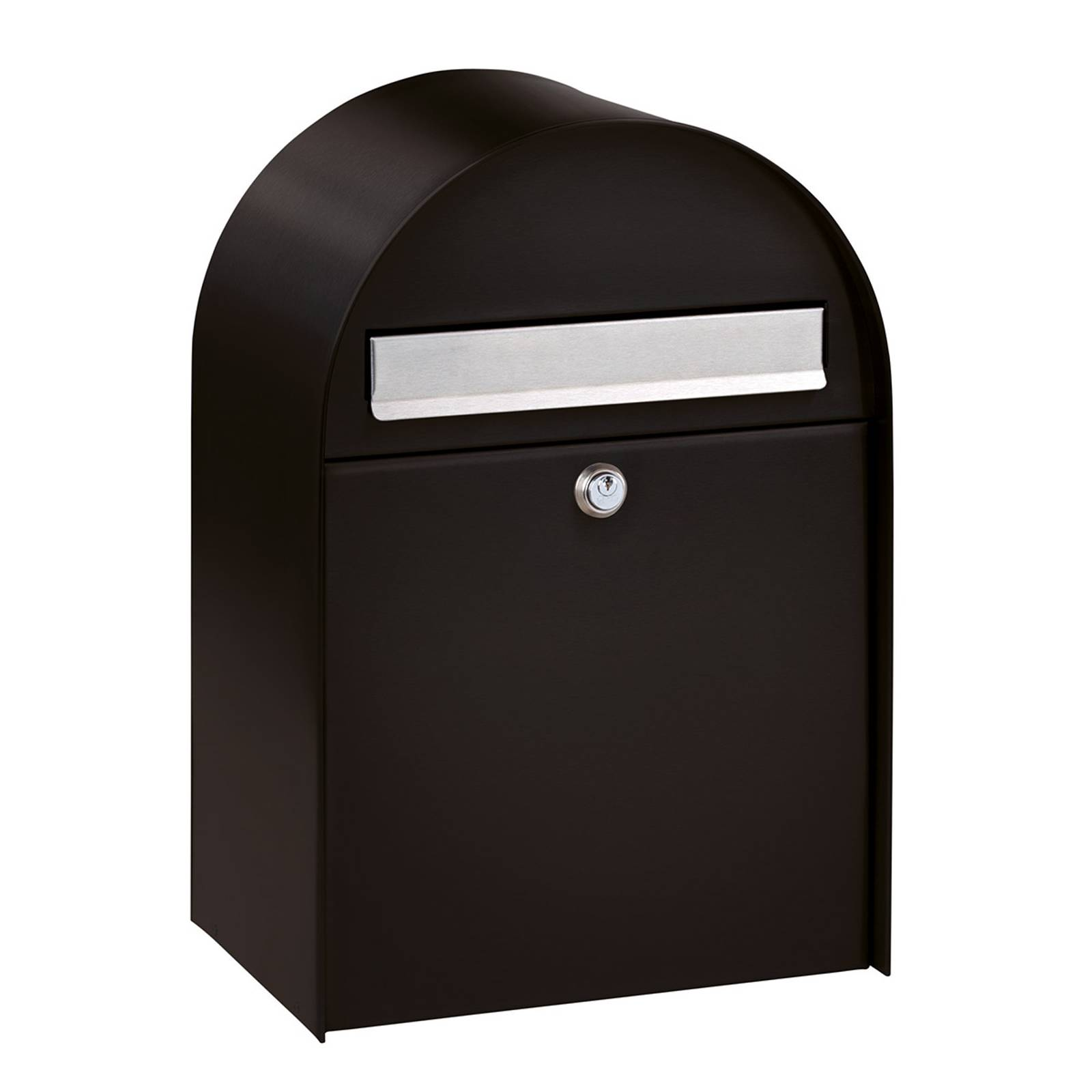 Spacious letter box Nordic 680 in Black from Burgwächter