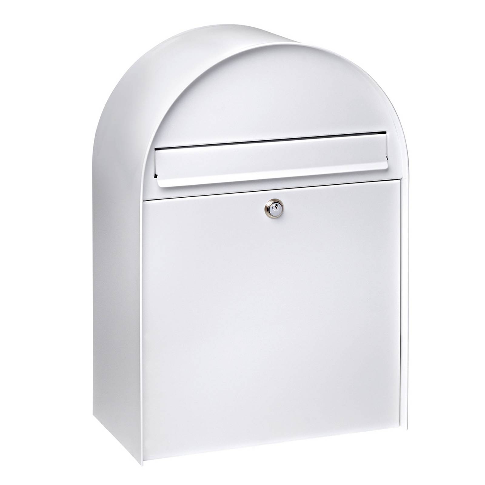 Spacious letter box Nordic 680 in white from Burgwächter