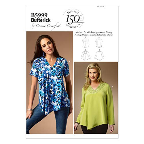 Butterick Patterns 5999 MIS Extra-Small/Small/Medium/Large/Extra-Large Sewing Patterns, Multi-Color from Butterick Patterns