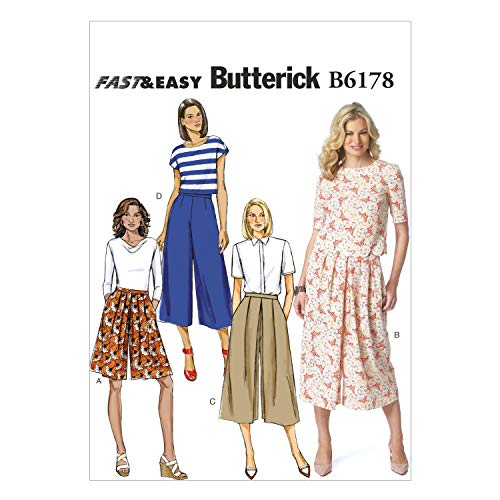 Butterick Patterns 6178 A5,Misses Culottes,Sizes 6-8-10-12-14 from Butterick Patterns