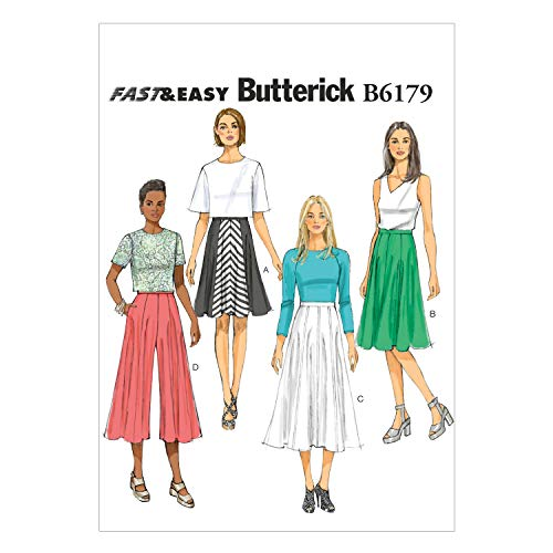 Butterick Patterns 6179 A5,Misses Skirt and Culottes,Sizes 6-8-10-12-14 from Butterick Patterns