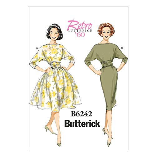 Butterick Patterns 6242 E5,Misses Dress,Sizes 14-16-18-20-22 from Butterick Patterns