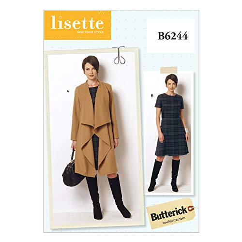 Butterick Patterns 6244 RR,Misses/Women's Coat and Dress,Sizes 18W-20W-22W-24W from Butterick Patterns