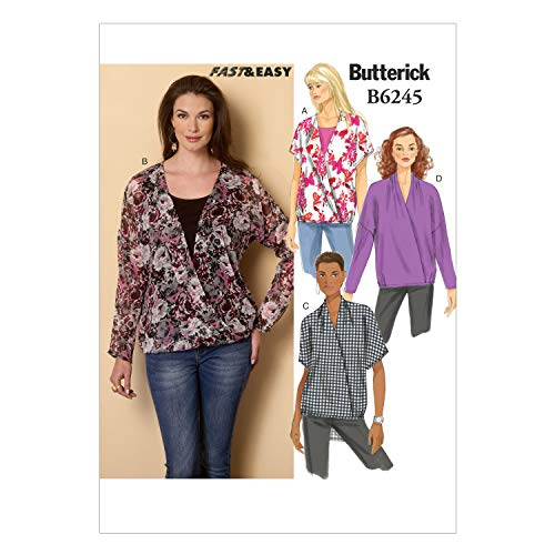 Butterick Patterns 6245 ZZ,Misses Top,Sizes LRG(16-18)-XLG(20-22)-XXL(24-26) from Butterick Patterns