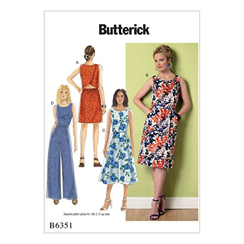 Butterick Patterns 6351 E5,Misses Dress and Jumpsuit,Sizes 14-22 from Butterick Patterns