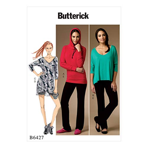 Butterick Patterns 6427 Y,Misses Top,Dress and Pants,Sizes XSM-MED, Tissue, Multicoloured, 17 x 0.5 x 22 cm from Butterick Patterns