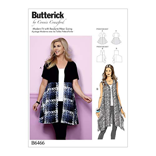 Butterick Patterns 6466, Misses/Women's Tunics,Sizes XS-XL, Tissue, Multicoloured, 17 x 0.5 x 22 cm from Butterick Patterns