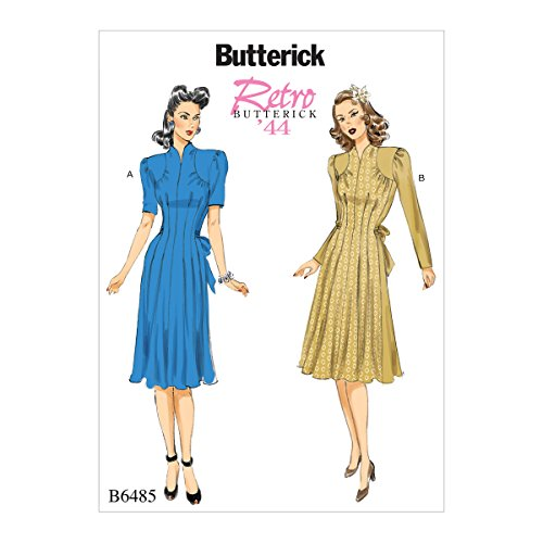 Butterick Patterns 6485 A5,Misses Dress,Sizes 6-14, Tissue, Multi-Colour, 17 x 0.5 x 22 cm from Butterick Patterns