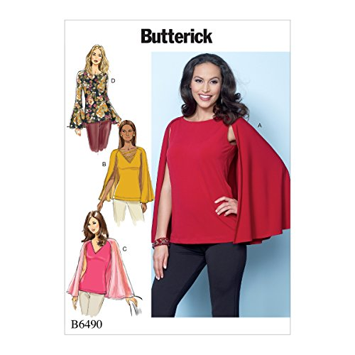 Butterick Patterns 6490 A5,Misses Top,Sizes 6-14, Tissue Multi-Colour, 17 x 0.5 x 22 cm from Butterick Patterns