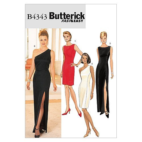 Butterick Patterns B4343 Size 6-8-10-12 Misses Petite Lined Dress, Pack of 1, White from Butterick Patterns