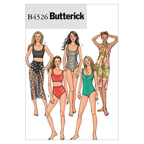 Butterick Patterns B4526 Size EE 14-16-18-20 Misses Swimsuit and Wrap, Pack of 1, White from Butterick Patterns