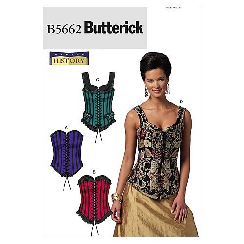 Butterick Patterns B5662 Size EE 14-16-18-20 Misses' Corsets, Pack of 1, White from Butterick Patterns