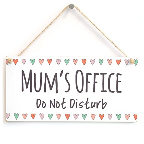 Mum's Office Do Not Disturb - Lovely Small Gift for Mum's Birthday Sign/Plaque from Button Hill Cottage